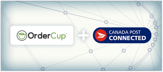 OrderCup Canada Post Solution